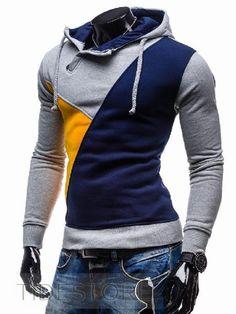 c42322a3c Unique Color Block Long Sleeve Hoodie Colorful Hoodies