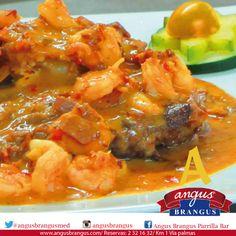 #Hoy disfruta en #AngusBrangus, de un delicioso Steak Mediterraneo: medallón de lomo de res, bañado en salsa demiglace, pimentón,cebolla, langostinos y camarones.#RestaurantesMedellín #Recomendados  #Medellín #VíaPalmas  #FeriadelasFlores