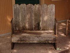 Love this Rustic Look!!  DIY Craft Projects Benches from Old Beds - Trash to Treasure - Architectural Salvage