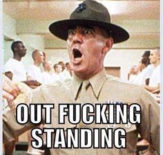 R. Lee Ermy as Gunnery Sergeant Hartman from Full Metal Jacket Political Memes, Military Humor, Usmc Humor, Military Life, Military Army, Drill Instructor, Full Metal Jacket, Us Marine Corps, War Quotes