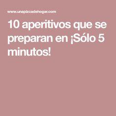10 aperitivos que se preparan en ¡Sólo 5 minutos! Canapes, Food, Entertaining, Healthy Snacks, Deserts, Entrees, Sofas, Eten, Couches