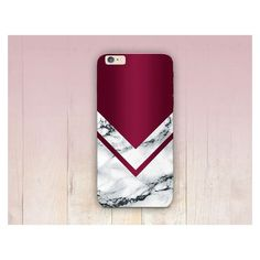 Burgundy Marble Print Phone Case ❤ liked on Polyvore featuring accessories and tech accessories