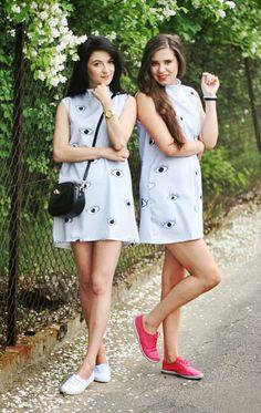 Choies Women's Limited Edition Eyes Print Sleeveless Dress at Amazon Women's Clothing store: