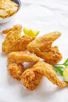These Crispy Spicy Chicken Wings dredged in a well-seasoned flour, no eggs were used, yet crispy from the outside and tender from the inside.