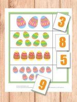 This one will help the kids learn their numbers by counting Easter eggs!  Numbers 1 to 10