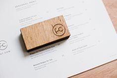 Fat Cow Restaurant branding using wood pieces