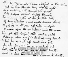 Last Sonnet by John Keats . Poem starts : Bright star would I were steadfast as thou art . Handwritten manuscript . JK : English Romantic poet , 31 October 1795 – 23 February 1821 . stock photo