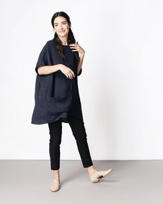 """There are a handful of garments that I wear over and over again, and the Harper Tunic captures the best elements of those staples - an easy, unfussy fit,…"""
