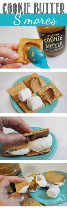 Trader Joe's Cookie Butter S'mores - You need to make these! So yummy and better than traditional S'mores!