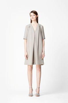 Layered v-neck dress