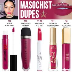 (@allintheblush) on Instagram: MASOCHIST RE-DUPES from Jeffree Star Cosmetics