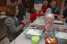 """previous pinned said, """"Gingerbread House Making Christmas Party—Hostess with the Mostess®"""" I like the Dr. Seuss-ness."""