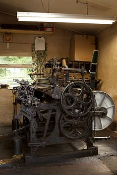 Traditional hand weaving machinery used by Magee clothing. #clothing #weaving #traditional