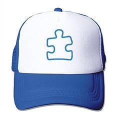 "Adult AUTISM PUZZLE AWARENESS Trucker Hats,Unisex Mesh Caps,snapback Baseball Cap Hat Product Specifications:-Material:100% Nylon Mesh-Size:One Size,Adjustable From 17"" To 24""-Colors:5 Colors:Black,red,Ash,RoyalBlue,Pink-Weight:125g/0.2..."