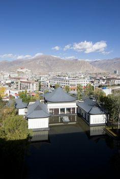 St Regis Lhasa, Tibet (China) by Denniston International Architects & Planners Ltd.  #China #Tibet #architecture #zinc #VMZINC #AnthraZinc