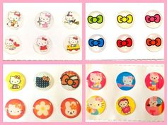 24x Cute Kitty Home Button Stickers for iPhone/iPad/iPod (4packs) iPhone6 5 4