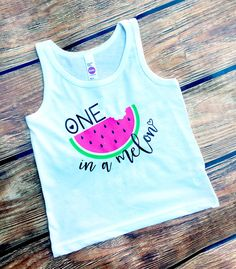 DISCOUNT code ANNABELLE15 to save on your entire purchase!   One in a Melon Tank Top - Summer Tank Top - One in a Million - Watermelon - Girls Tank Tops - Beach Tanks - Toddler Tank - Youth Tank by VazzieTees on Etsy https://www.etsy.com/listing/293835737/one-in-a-melon-tank-top-summer-tank-top