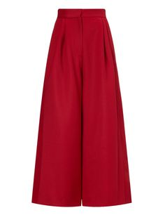 Very Berry Wool Classic Culottes | Isa Arfen | Avenue32