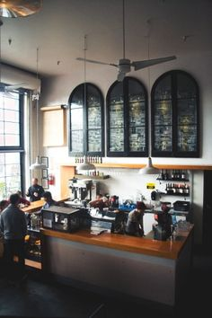 high ceiling/fans/pendant : Refinery 29's list of coffee shops to try in SF