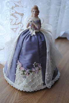 half doll Esther is made with a hanky that belonged to my husband's mother.