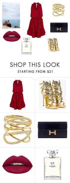 """""""red"""" by asiak19 on Polyvore featuring moda, Finders Keepers, Giuseppe Zanotti, Lana, Hermès, Huda Beauty i Chanel"""