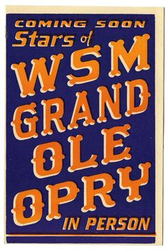 WSM Grand Ole Opry Hatch Show Print postcard