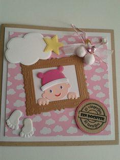 Babykaart dochter geboren gemaakt door gerdian.