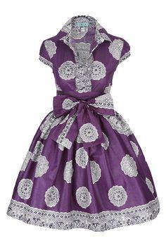 Image of Fusion Purple Shirt Dress