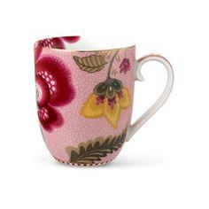 PiP Studio mok bloemen - S - roze