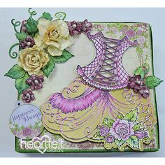 Wishing You Happiness All the time Fancy Handmade Playing cards Heartfelt Creations Cards, Dress Card, Junk Art, Easel Cards, Flower Stamp, Color Card, Small Flowers, Pattern Paper, Crafts To Make