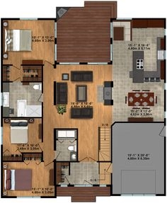 Building A Shed 446771225532252924 - 1900 sq feet-flip kitchen/dining and master. Add deck towards Olympics Source by moquaystefanie A Frame House Plans, House Plan With Loft, Model House Plan, Barn House Plans, Craftsman House Plans, Small Bathroom Floor Plans, Small House Floor Plans, Cottage Floor Plans, Modern Bathroom