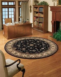 Nourison Nourison 2000 (2015) Navy Round Area Rug 6-Feet by 6-Feet  (6' x... New