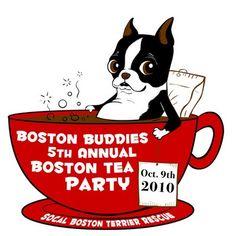 tshirt for Boston Buddies Tea Party