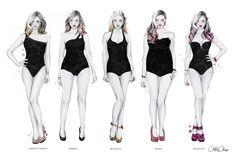 Figurines con las formas corporales femeninas creado por Cristina Alonso www.cristinalonso.com a quien descubríamos en la sección Galería del libro Figurines de Moda Técnicas y Estilos www.figurinesdemoda.com