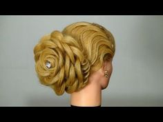 How to DIY Rose Flower Hair Bun Updo Hairstyle | www.FabArtDIY.com
