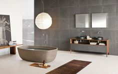 Futuristic Comfortable Contemporary Bathroom Designs : Furniture And Fixtures Utilized Here Complements With The White And Gray Palette In This Zen Bathroom Design Zen, House Design, Design Ideas, Bath Design, Design Concepts, Design Trends, Contemporary Bathroom Designs, Contemporary Decor, Modern Bathrooms