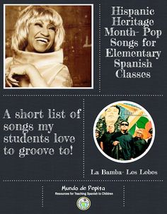 Hispanic Heritage Month Songs for Elementary Spanish Class 16 SONGS my kiddos love to groove to! Mundo de Pepita, Resources for Teaching Spanish to Children