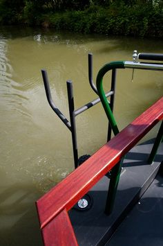 Bike rack on stern to save storing in the cabin or on the deck.