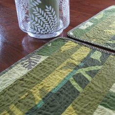 Beautiful shades of green in these Marimekko placemats