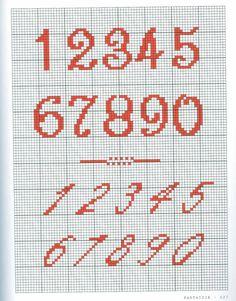 Cross Stitch Letter Patterns, Cross Stitch Numbers, Cross Stitch Letters, Cross Stitch Borders, Cross Stitching, Stitch Patterns, Basic Embroidery Stitches, Cross Stitch Embroidery, Broderie Bargello