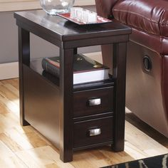 Amazon.com: Signature Design by Ashley Espresso Chairside End Table: Kitchen & Dining