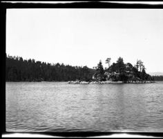 View of Fannette Island on Lake Tahoe, [s.d.] :: California Historical Society Collection, 1860-1960