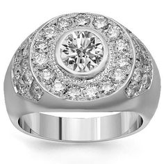 Platinum Mens Diamond Ring 3.75 Ctw – 5 | Your #1 Source for Jewelry and Accessories