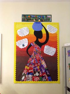 Each class created a display to celebrate Fairtrade fortnight. Primary Classroom Displays, Classroom Display Boards, Display Boards For School, Teaching Displays, Class Displays, School Displays, Special Education Classroom, Classroom Themes, Teaching Ideas