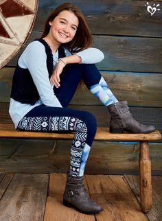 Detailed leggings and standout boots make any outift bold and beautiful!