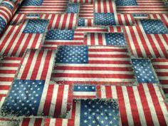 #american #flags Tessuto arredamento con #bandiere americane 100% #cotone
