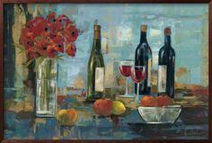 Fruit and Wine Art Print by Silvia Vassileva at Art.com
