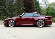 Arena Red Porsche 993 Turbo. Speedlines. #everyday993 #Porsche