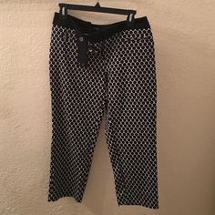 Patterned slacks These are comfortable patterned slacks, stretchy. Brand new, never worn. Apt. 9 Pants Ankle & Cropped