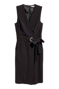 Vestido cruzado - Negro - MUJER | H&M ES